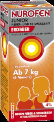 Nurofen Junior Fieber-u.Schmerzsaft Erdbe.40 mg/ml 100 ml