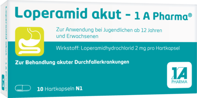 Loperamid akut-1A Pharma Hartkapseln 10 St