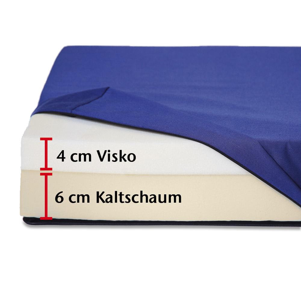 Visko-Mineralschaum auf der Sitzfläche passt sich Ihrem Körper individuell an und stützt ringsherum sanft ab.