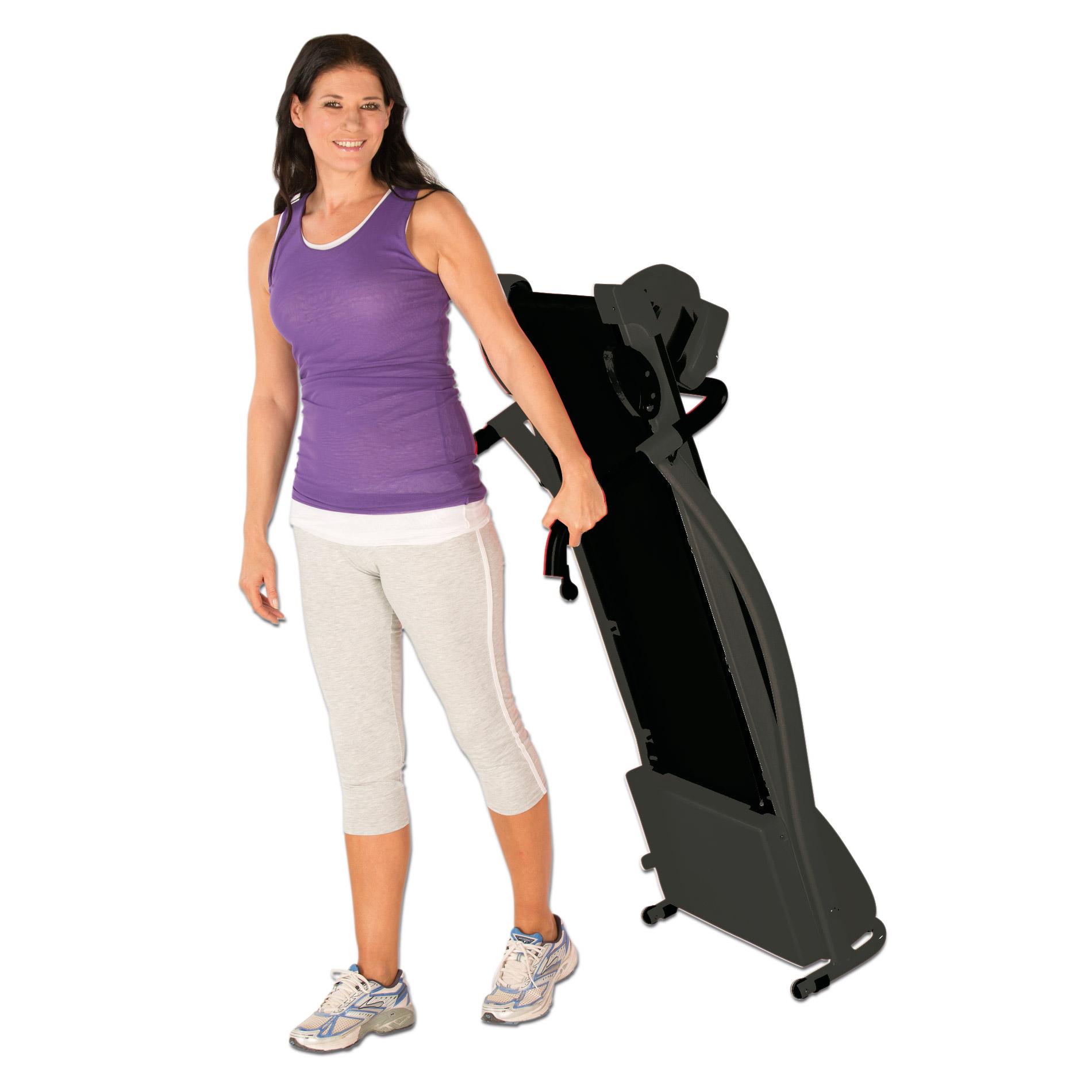 Nach dem Training, einfach wegrollen und platzsparend verstauen