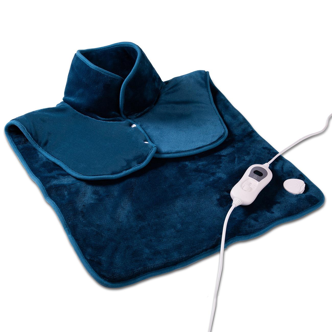Das Rückenheizkissen ist besonders anschmiegsam dank flaushig weichem Obermaterial.