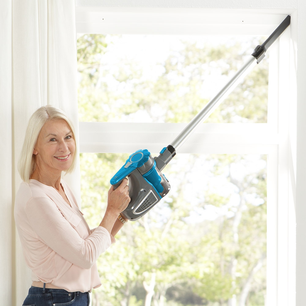 Der Staubsauger ermöglicht eine flexible Reinigung, da sie keine Steckdose benötigen.