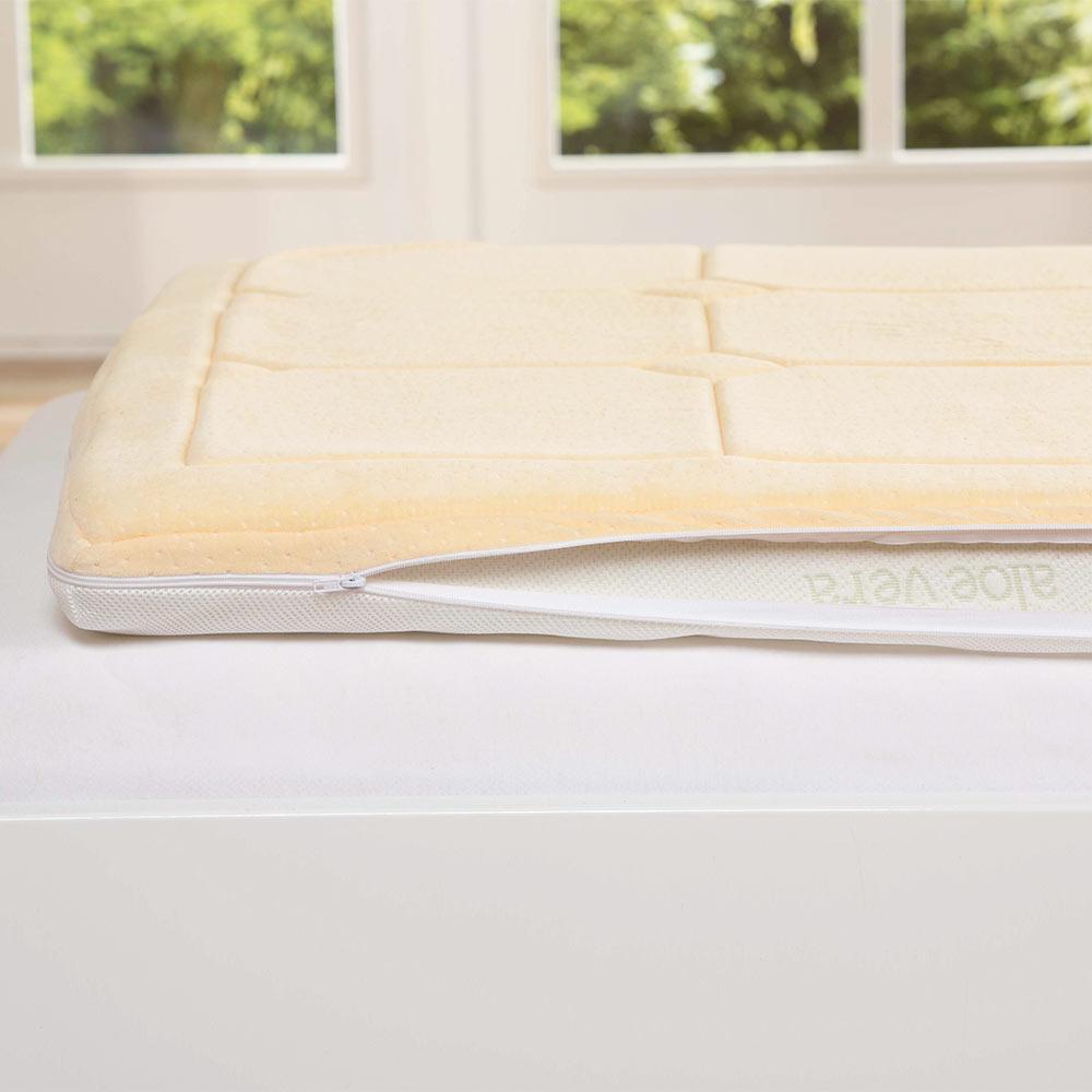 Obere Seite aus extra luftigem 3D-Gewebe - ideal für warme Sommernächte!