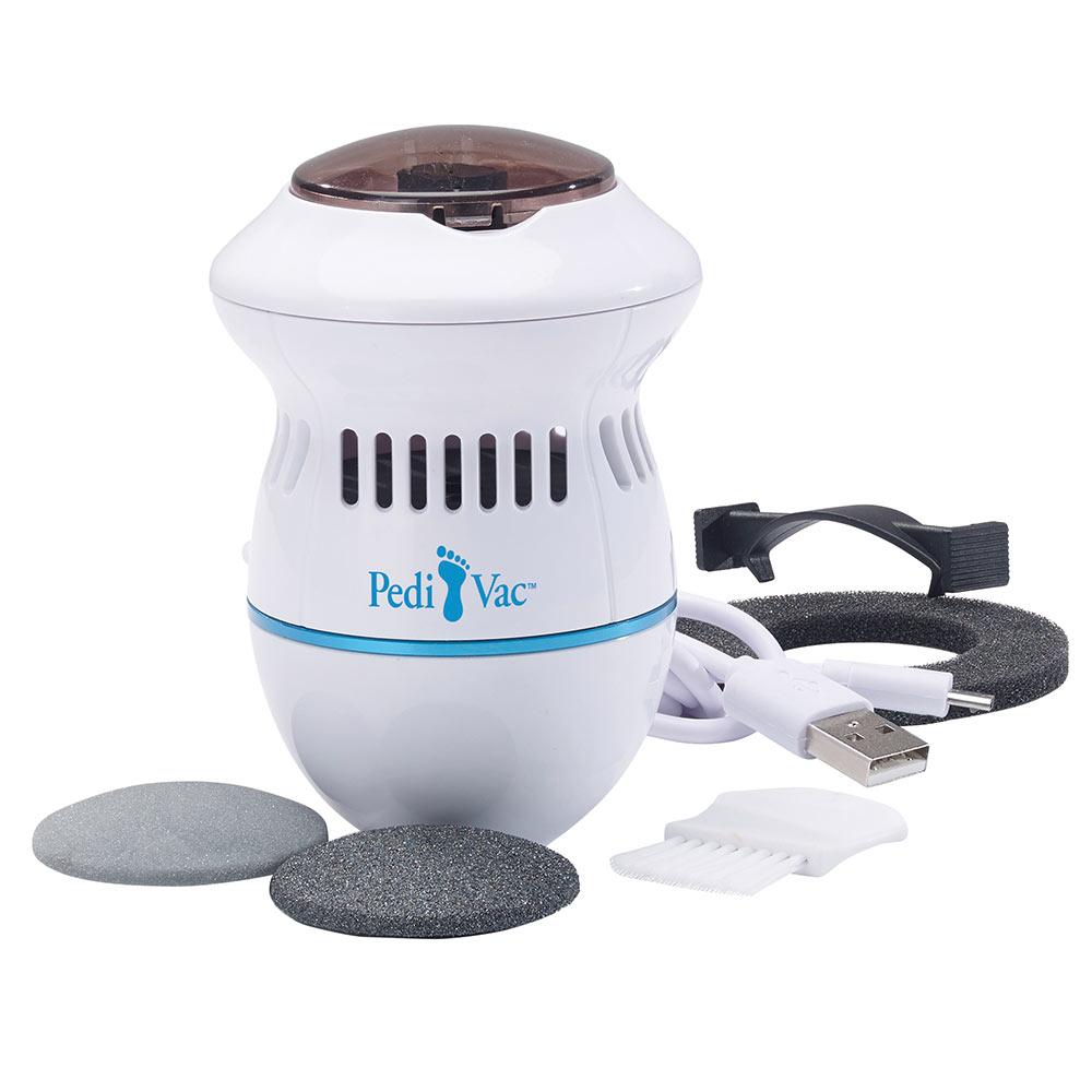 Das extra leichte Gerät verfügt über einen feinen und einen groben Aufsatz sowie über zwei Stärkestufen, sodass Sie die Behandlung optimal auf die Bedürfnisse Ihrer Haut abstimmen können.