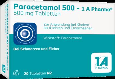 Paracetamol 500-1A Pharma Tabletten 20 St