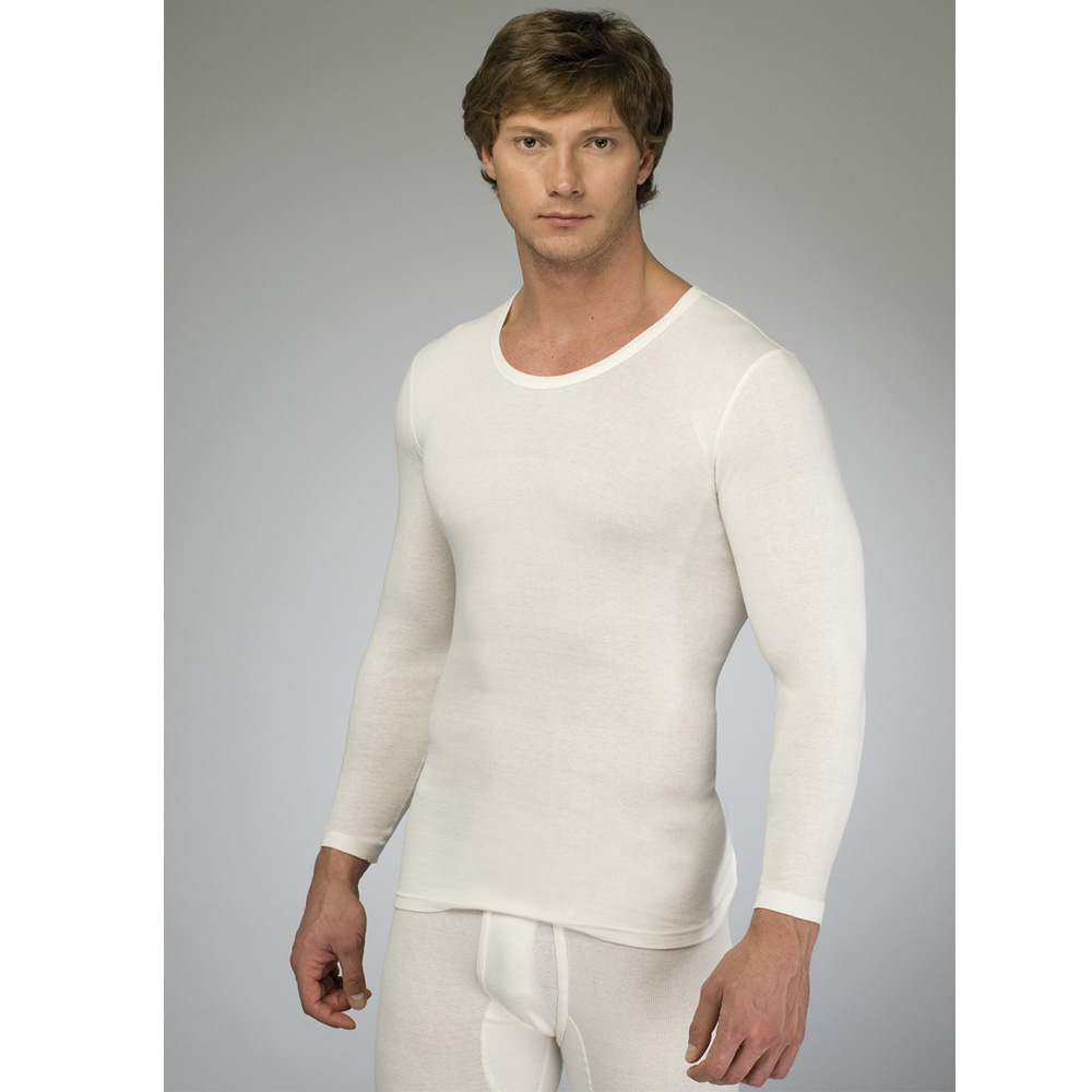 Das sportlich-moderne Unterhemd in schlichtem Weiß.