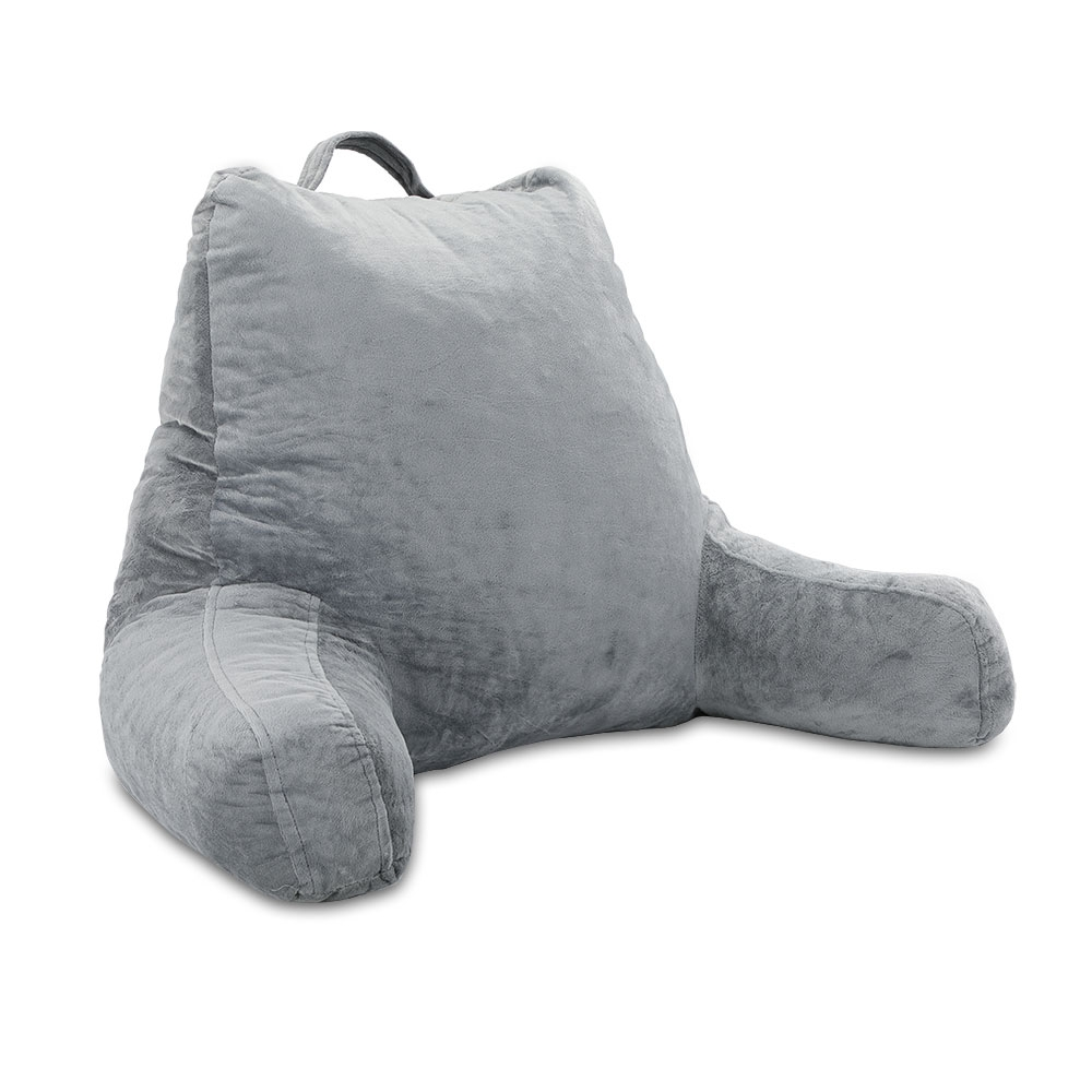 Das Rückenkissen mit Armlehnen bietet Ihnen beim Lesen, Fernsehen und Entspannen optimalen Sitzkomfort.