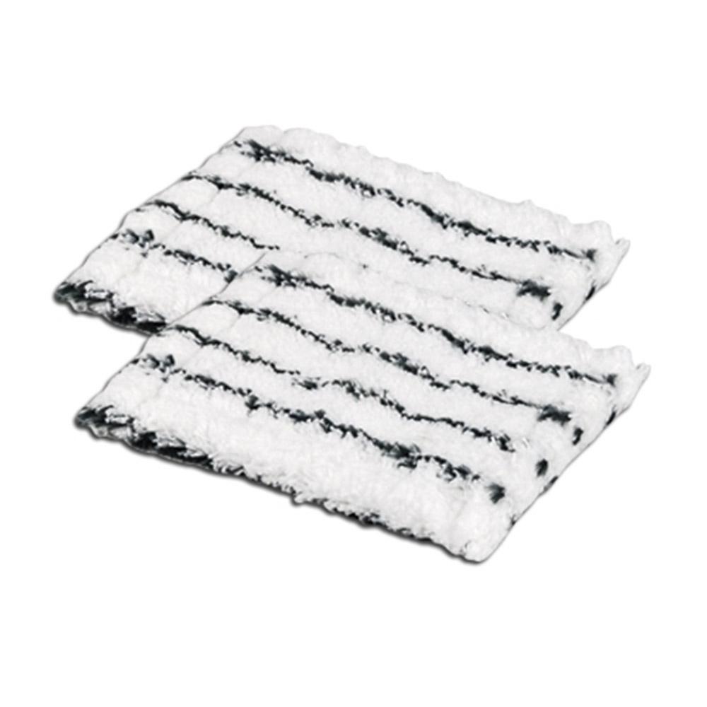 Die beiden Mikrofaser-Ersatzbezüge für den Bad-/Fliesenwischer Profi sorgen spielend leicht für strahlenden Glanz im Badezimmer.
