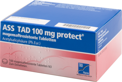 ASS TAD 100 mg protect magensaftres.Filmtabletten 100 St