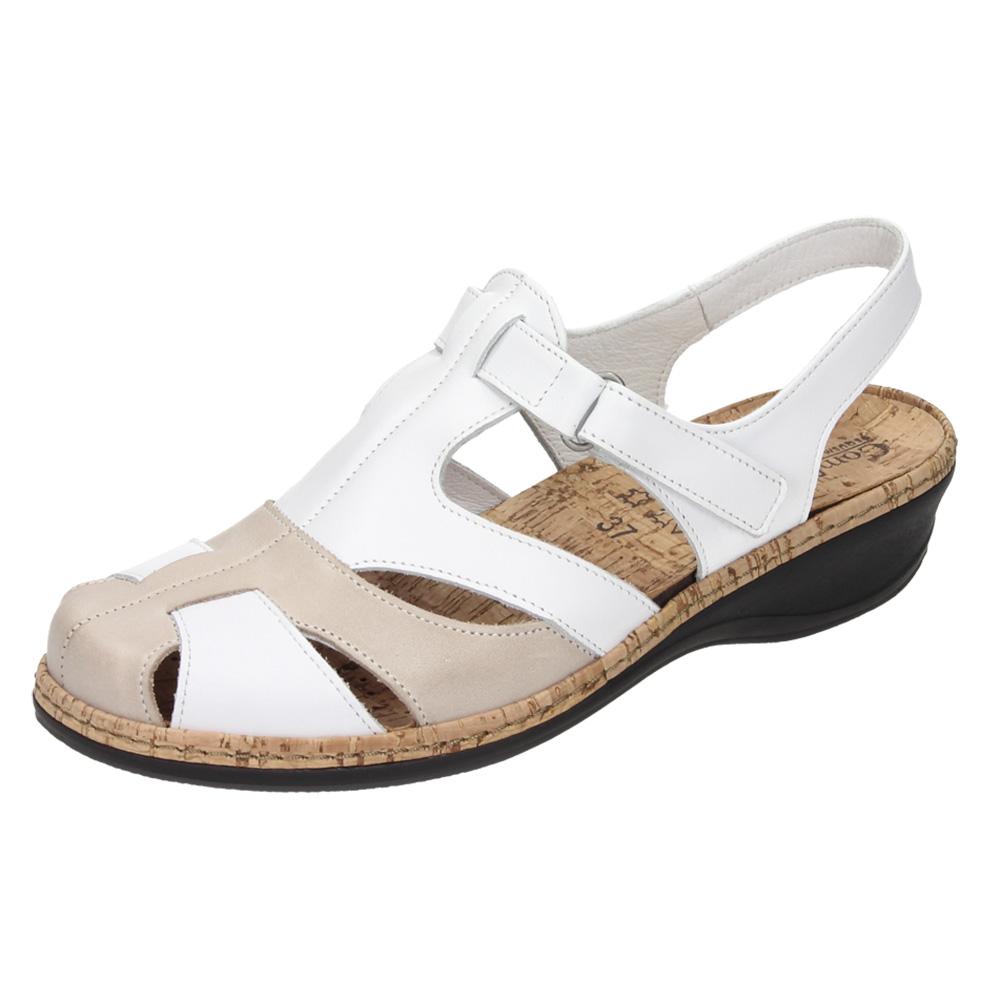 Die dezente Farbkombination verleiht der Damen-Sandalette »Andrea« ihren eleganten Look.
