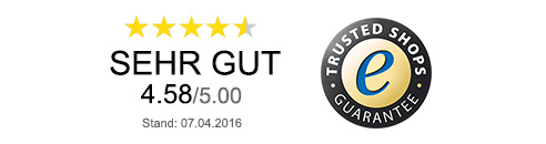 Trusted Shop-Bewertung: Sehr gut (4.58/5.00)